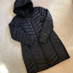 Tek Gear Hooded Packable Long Puffer Jacket
